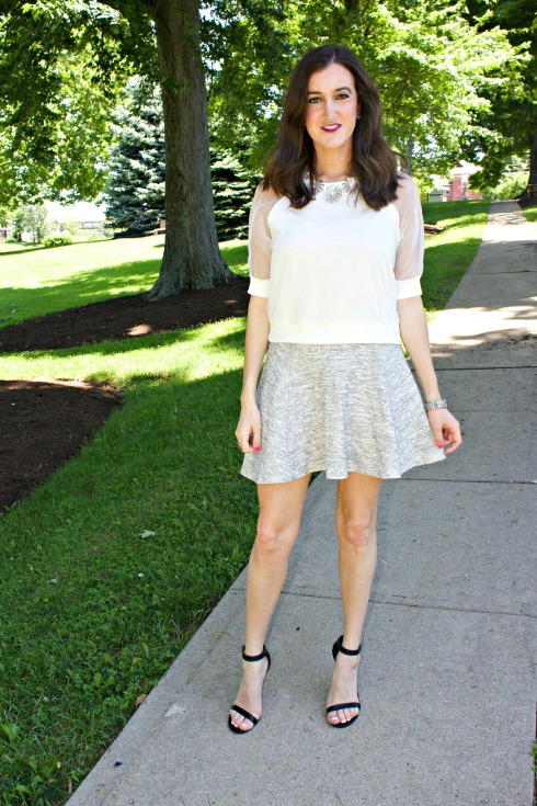 Nasty Gal Dream Team Tee with HM Gray Skirt