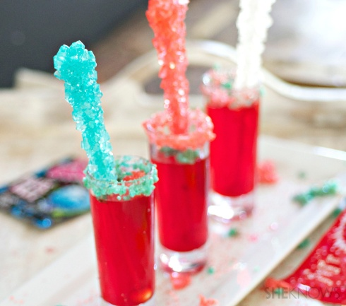 Red White and Blue Pop Rocks Shots