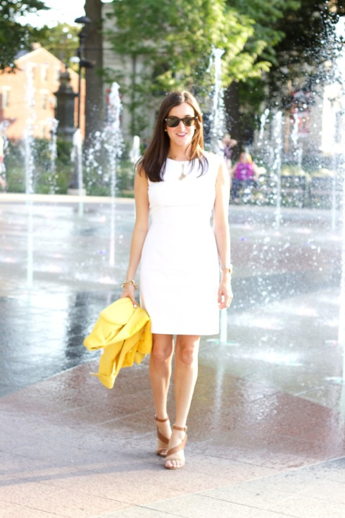 Gianni Bini White Dress FCUk Heels