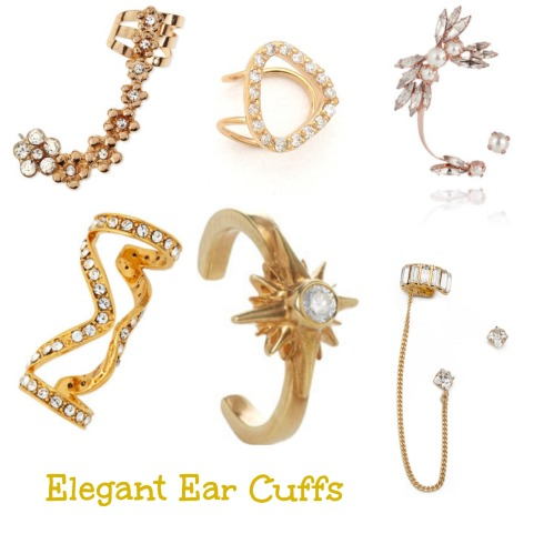 Gold Ear Cuff Jewelry