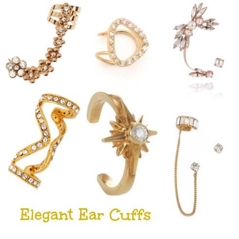 Gold Ear Cuff Jewelry
