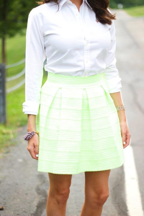 Green Honey Punch Bandage Skirt