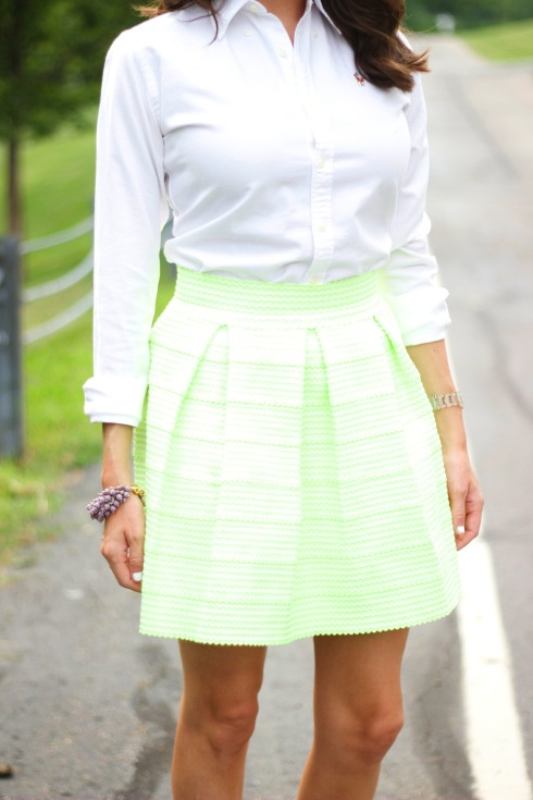 Green Honey Punch Bandage Skirt