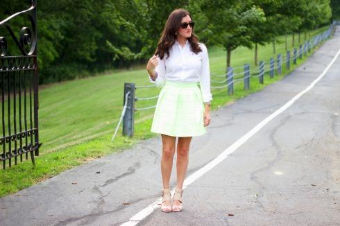 Honey Punch Bandage Skirt Ralph Lauren White Blouse