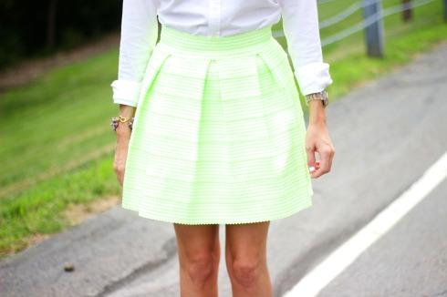 honey punch green bandage skirt
