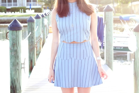 JOA Clothing Matching Separates Blue Outfit
