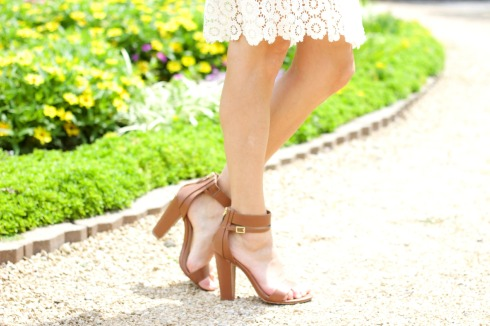 Lulu's Brown Ankle Strap Heels
