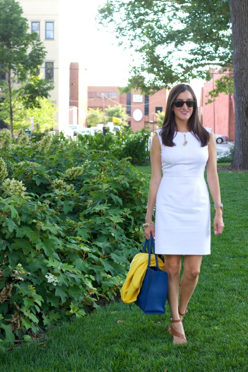 Rebecca Minkoff MAB Tote White Gianni Bini Dress