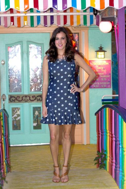 Urban Outfitters Denim Ruffle Dress