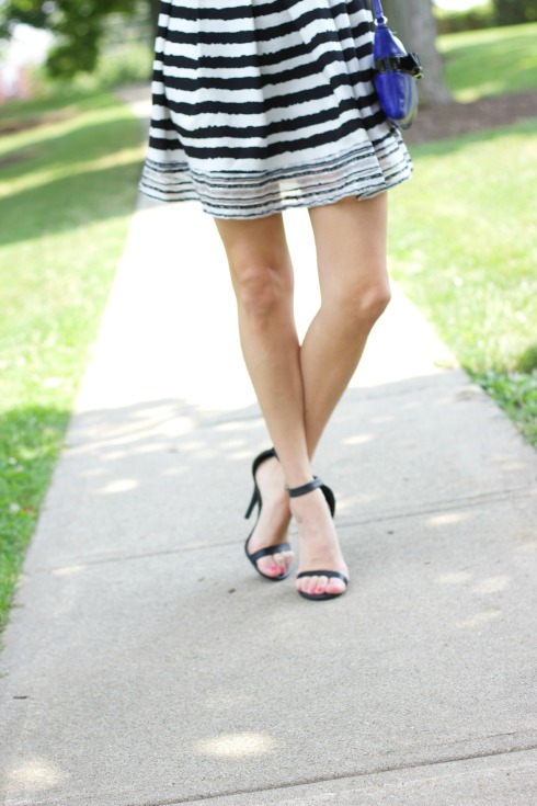 Black Ankle Strap Heels Summer Outfit