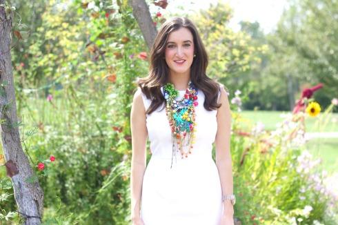 Bright Colored Designer Statement Necklace