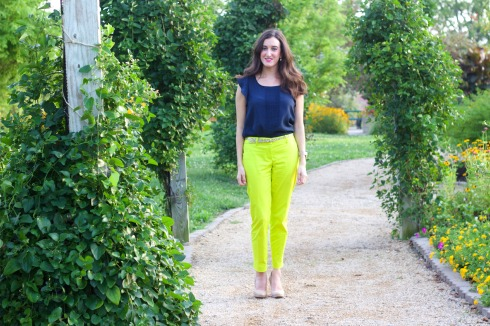 Color Blocked Summer Work Outfit