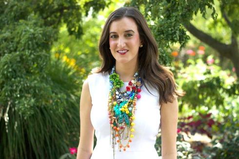 Colorful Summer Designer Statement Necklace
