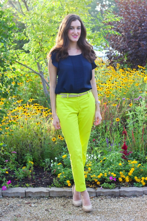 Colorful Summer Work Outfit J.Crew Pants