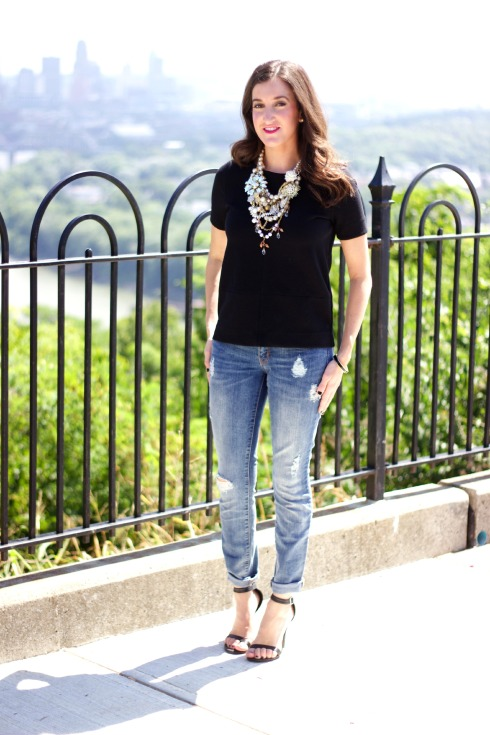 How To Style Ripped Jeans and Heels