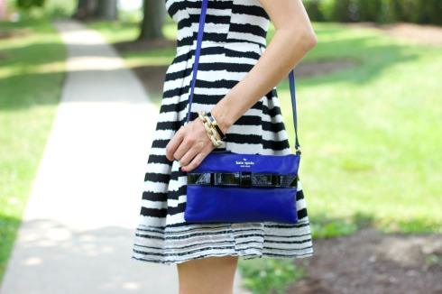 Kate Spade Black and Blue Bow Crossbody Purse
