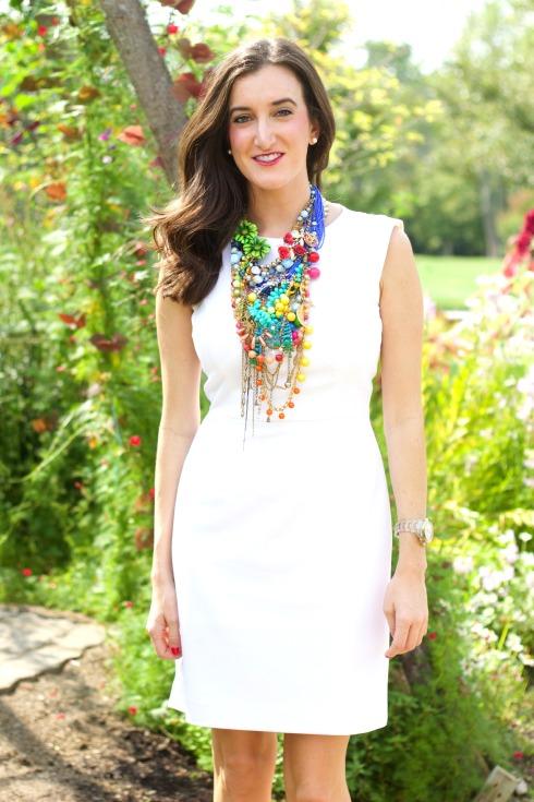 Large Multicolored Designer Statement Necklace