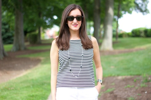 Madewell Striped Tank Top Shell