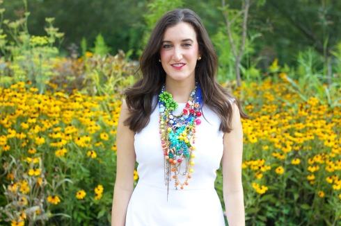 Tara Lea Smith Bright Multi Color Statement Necklace
