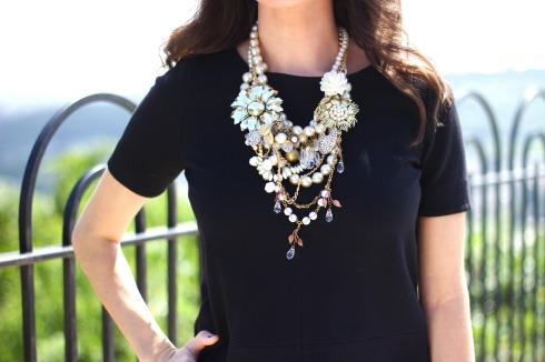 Tara Lea Smith Pearl Gold Statement Necklace