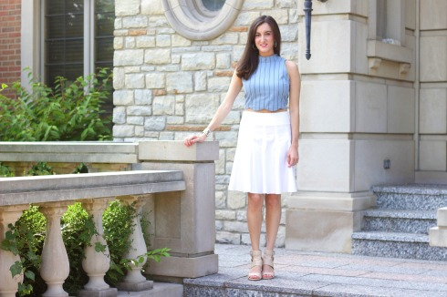 White and Blue Feminine Summer Outfit