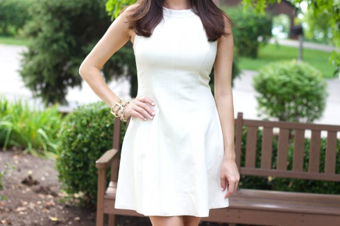 White Leather Dress