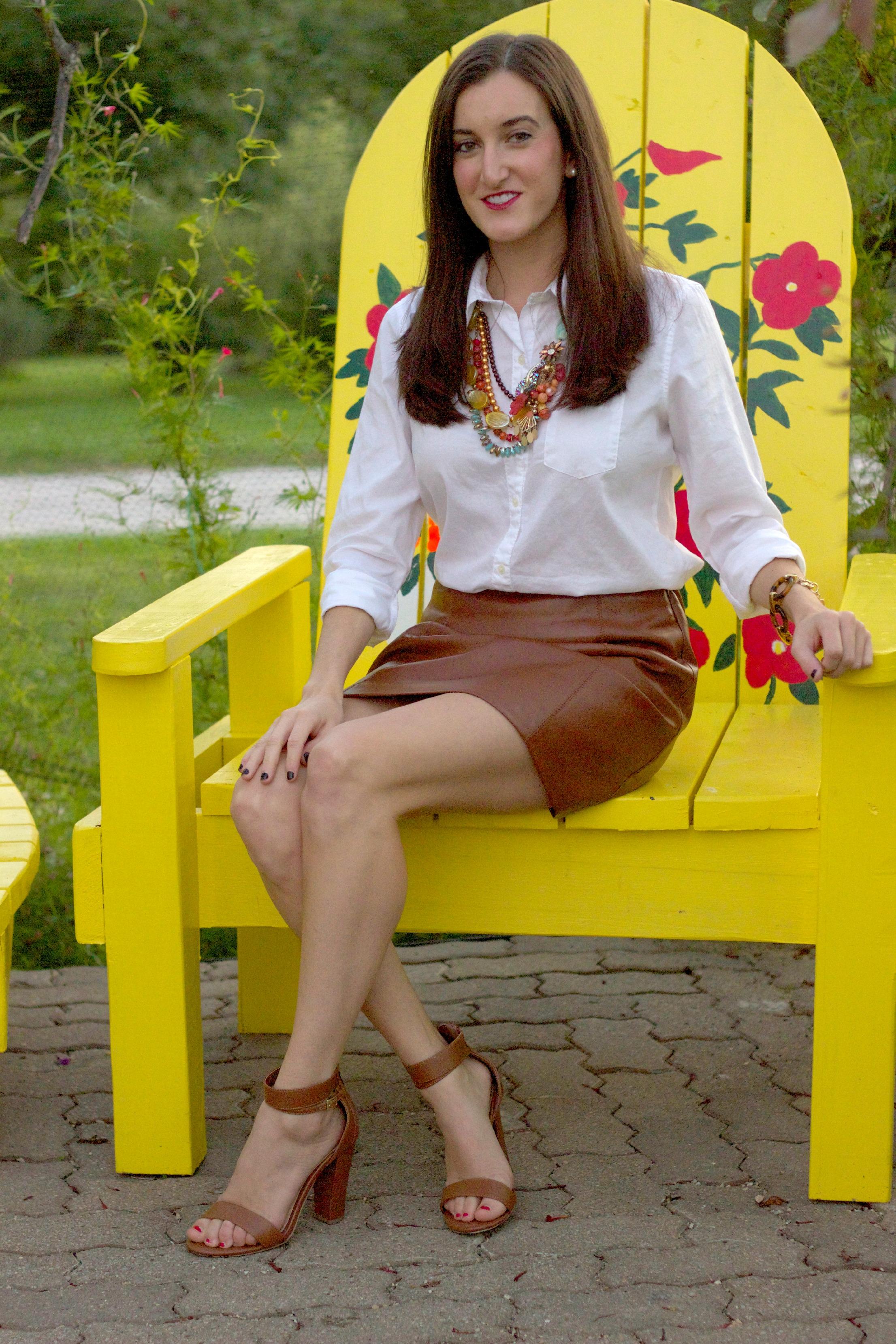 Brown leather skirt – Modern skirts blog for you