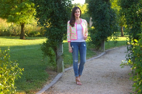 Gap Jeans with Lilly Pulitzer Jacket