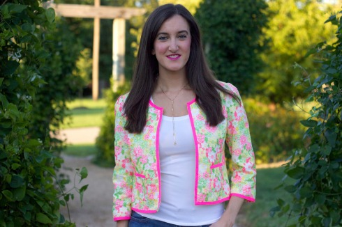 Lilly Pulitzer Colorful Floral Jacket
