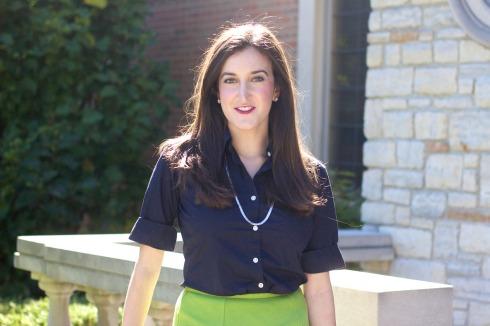 Ralph Lauren Short Sleeve Navy Blouse