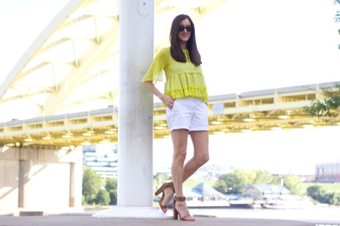 Sloane Boutique Top with JCrew Chino Shorts