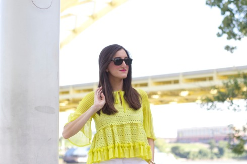 Sloane Boutique Yellow Ruffled Top