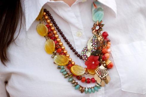 Tara Lea Smith Colorful Vintage Necklace
