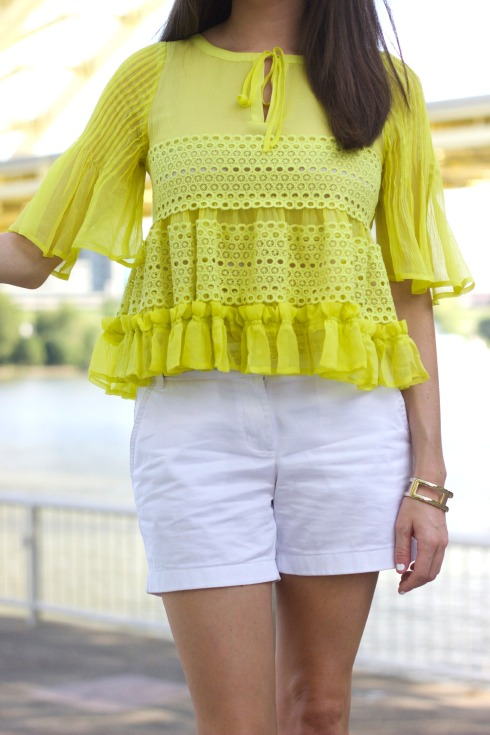TBA To Be Adored Ruffled Bell Sleeve Top