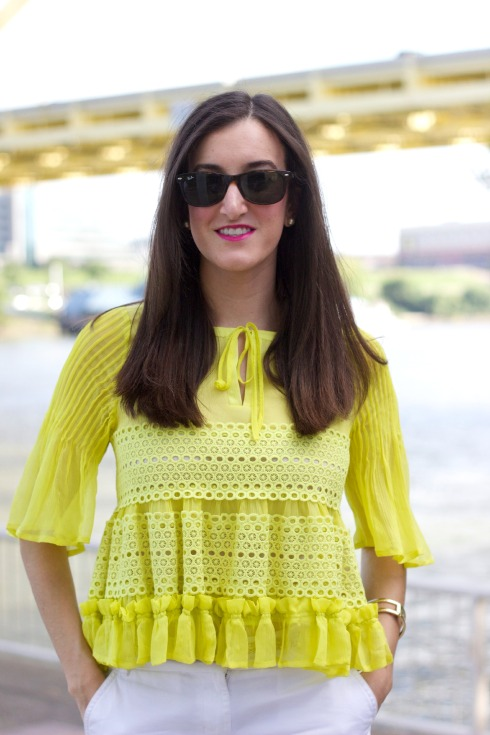 To Be Adored Liah Yellow Top