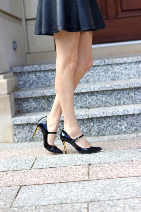 Vince Camuto Mary Jane Black Heels