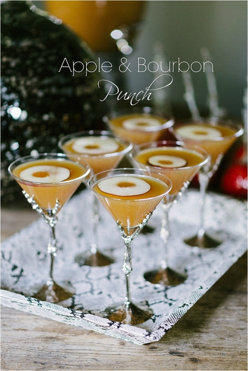 Apple Bourbon Martini Cocktail