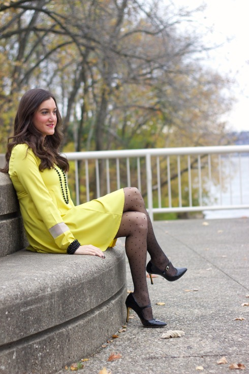 ASOS Yellow Long Sleeve Dress