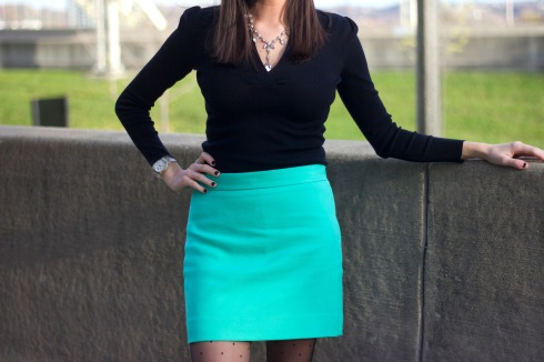 Tiffany Blue Skirt