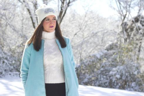 Cream Knit Beanie Winter Hat