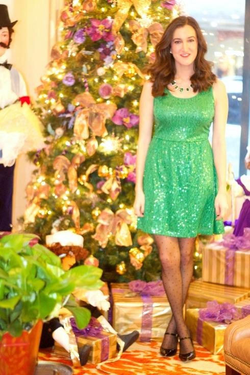 Green Sequin Dress Cincinnatian Hotel
