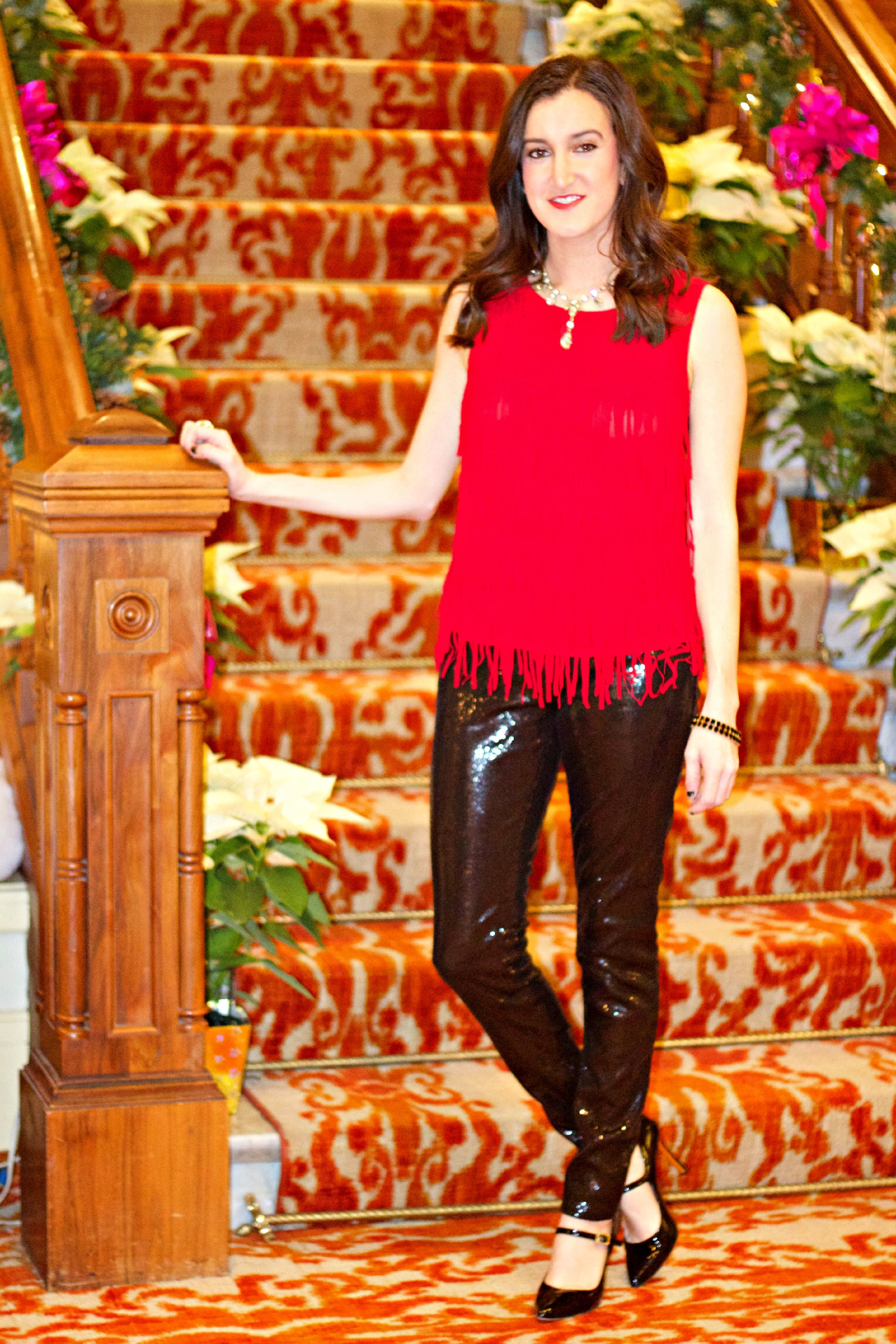 Top Ideas For Red Pants - Holiday outfit ideas