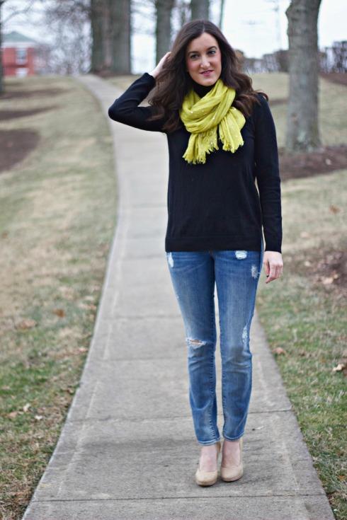 Gap Skinny Jeans with Gap Turtleneck