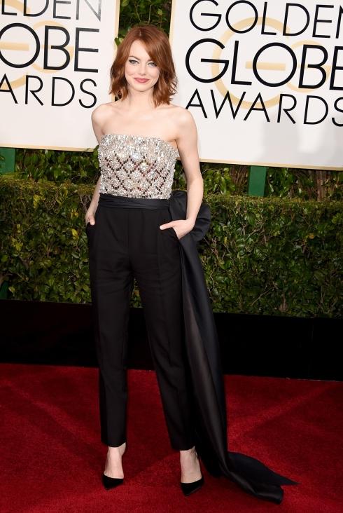 Emma Stone 2015 Golden Globes