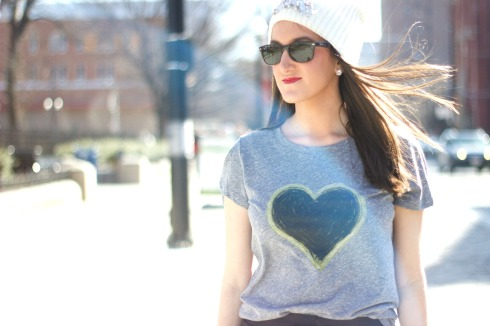 Graphic Tee with Beanie