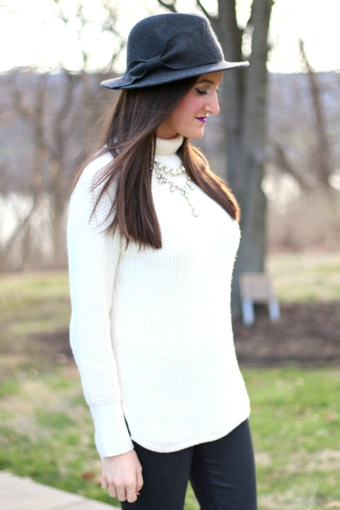 Anthropologie Wool Bow Hat