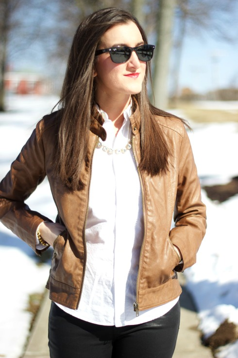 BB Dakota Brown Leather Jacket