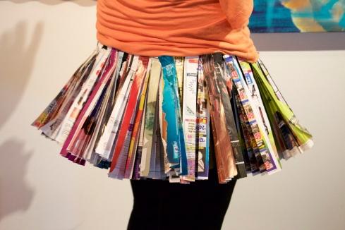 Newspaper Pleated Skirt