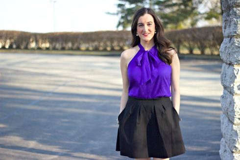 Sleeveless Bow Tie Blouse J.Crew