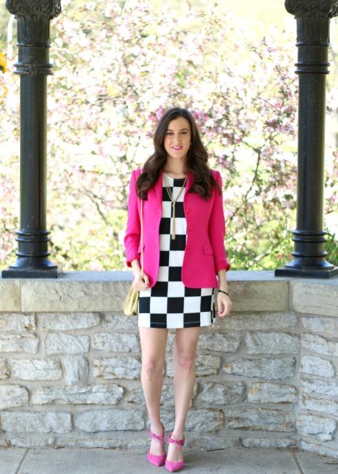 Pink Blazer with Pink Heels